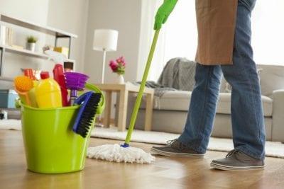 Two-Hour Minimum, Bottom Half of Man Mopping