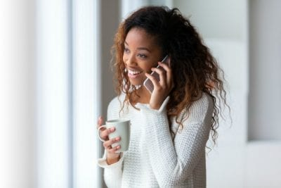 Two-Hour Minimum, Smiling Woman on Phone