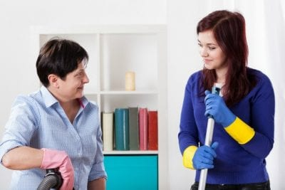 Two-Hour Minimum, Two House Cleaners