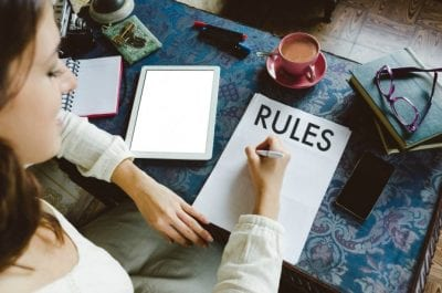 Two-Hour Minimum, Woman Writing Rules