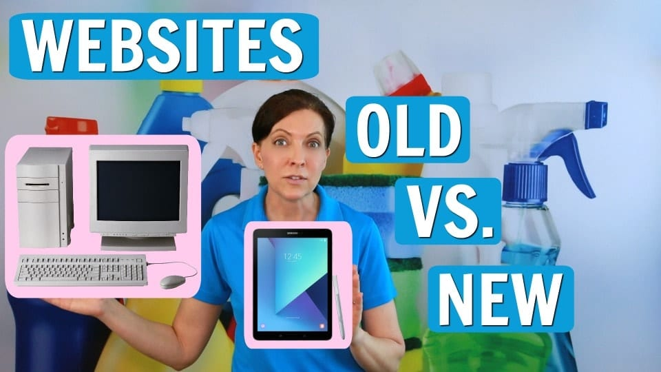 Ask A House Cleaner, Websites Old vs. New, Savvy Cleaner