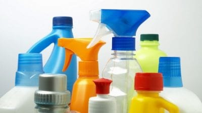 Cruelty-Free Cleaning Products cleaning chemicals, white background