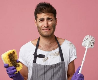 The Fear of Rejection, Male House Cleaner Crying
