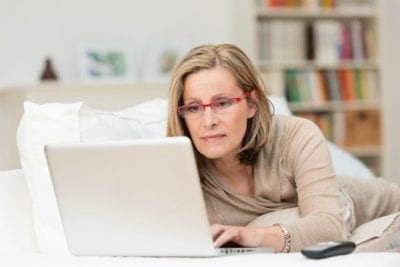 The Fear of Rejection, Woman on Laptop