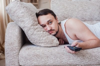 Advertise a Cleaning Business with No Money, Lazy Man on Couch