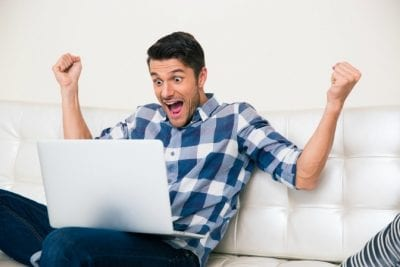 But it's free, Excited Man on Computer