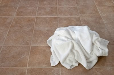 Household Cleaning Hacks, Towel on Tile