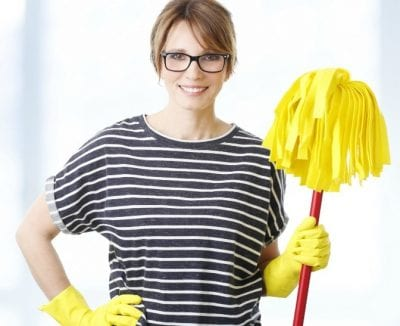 Employees Disrespect You, House Cleaner with Mop