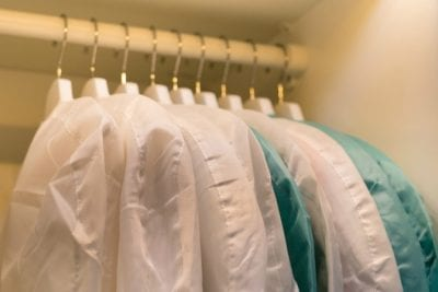 How to Organize your Closet, Clear Dustbags in Closet