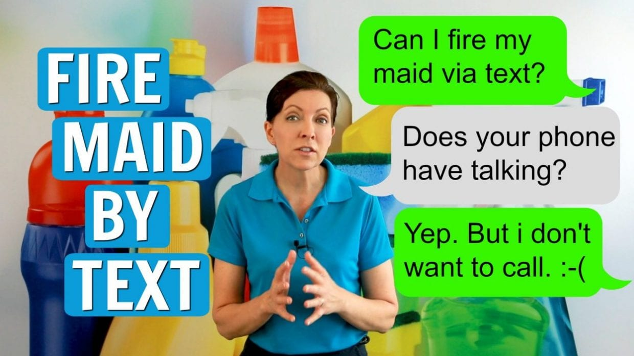 Ask a House Cleaner, Fire Maid By Text, Savvy Cleaner