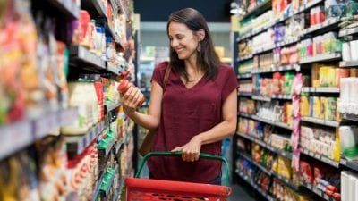 Fire the Maid by Text woman shopping in grocery store