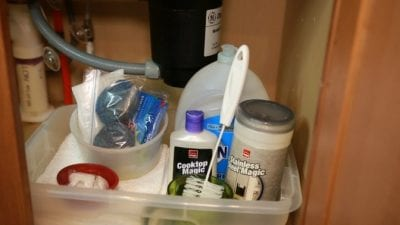 Vacation Rental - What's Under Your Sink, Under Sink Supplies