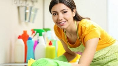 Rebuild Your Cleaning Business independent housecleaner cleaning counter