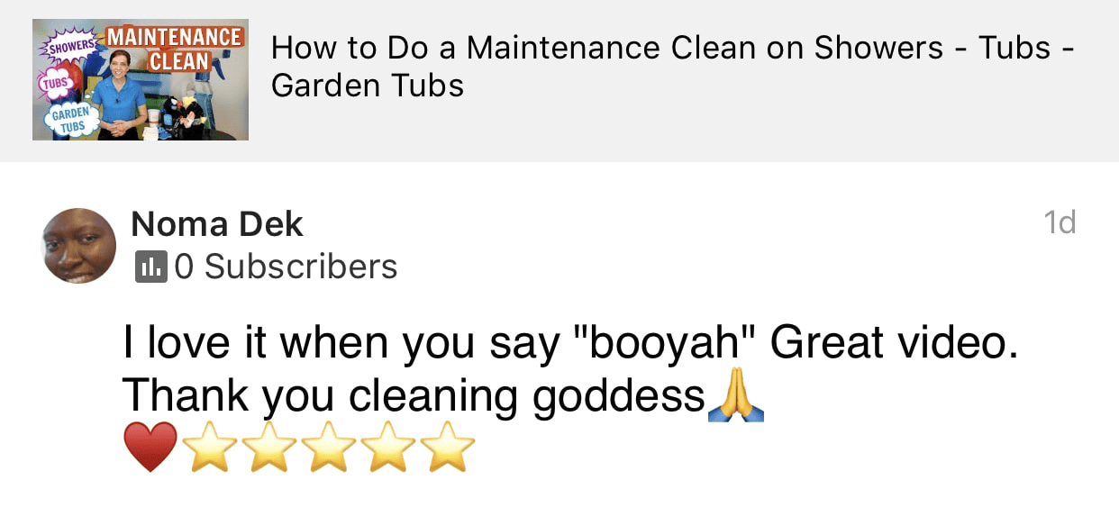 Thank you cleaning goddess, Ask a House Cleaner Testimonial