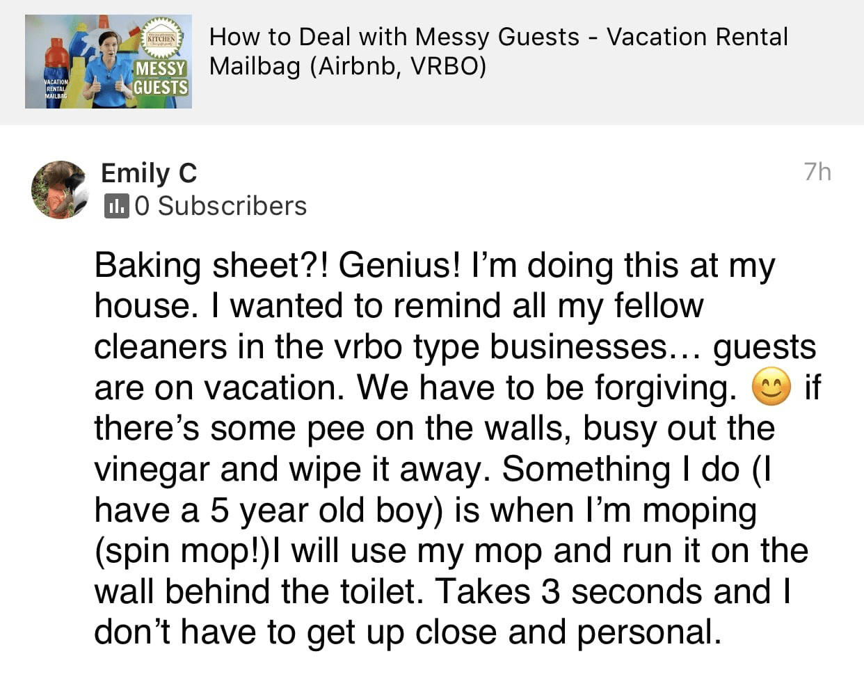 Baking Sheet Genius, Ask a House Cleaner Testimonial