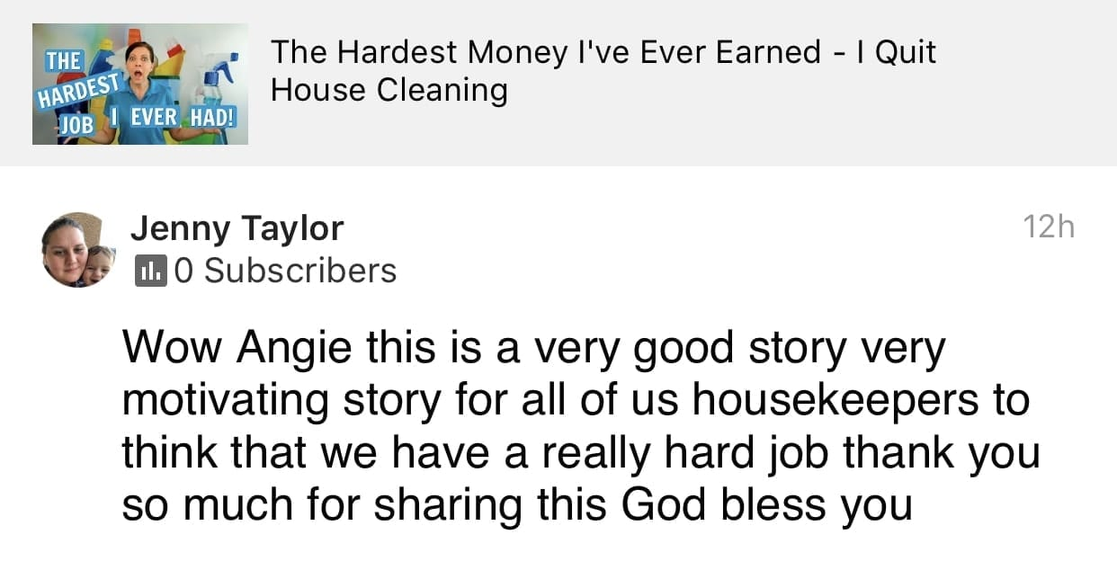 Bless you, Ask a House Cleaner Testimonial