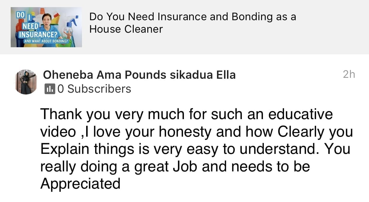 Educative video, Ask a House Cleaner Testimonial