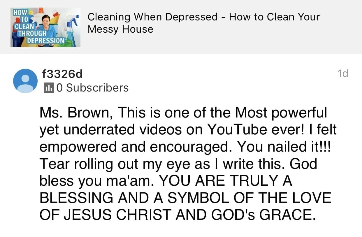 Encouraged, Ask a House Cleaner Testimonial