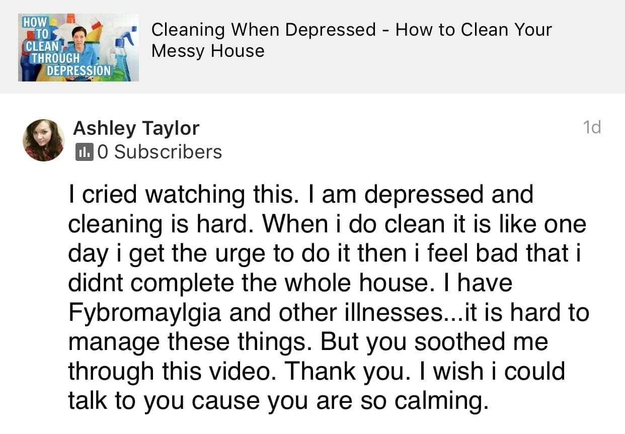 I cried, Ask a House Cleaner Testimonial