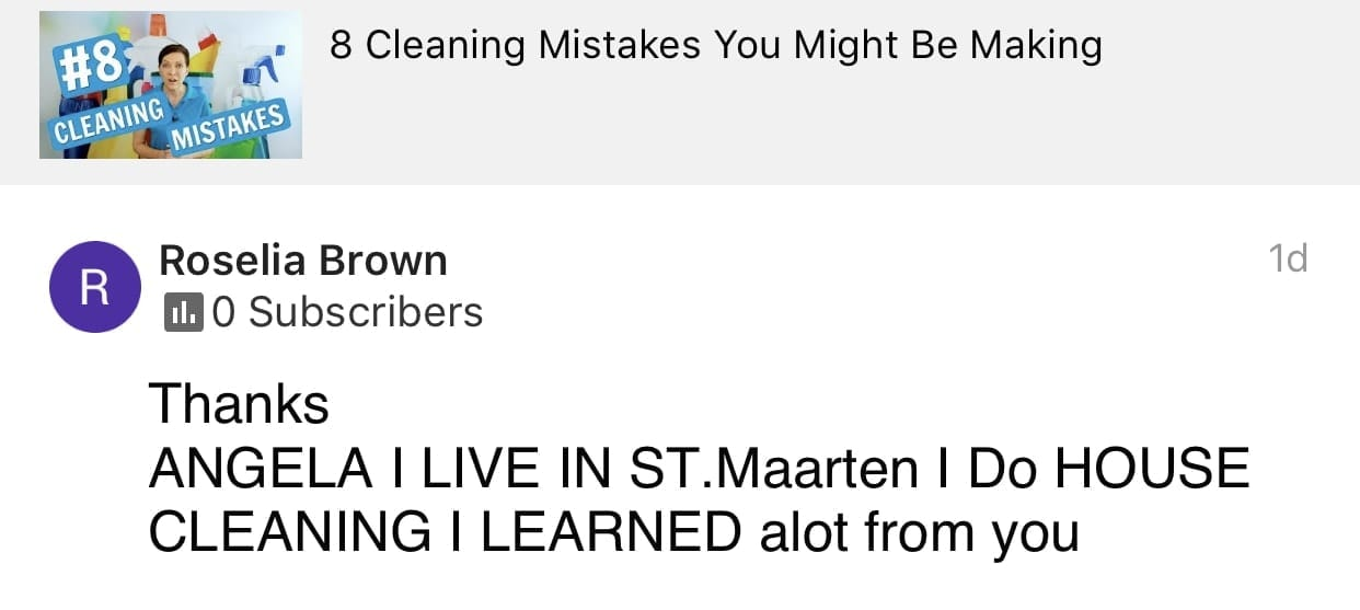Learned a lot, Ask a House Cleaner Testimonial