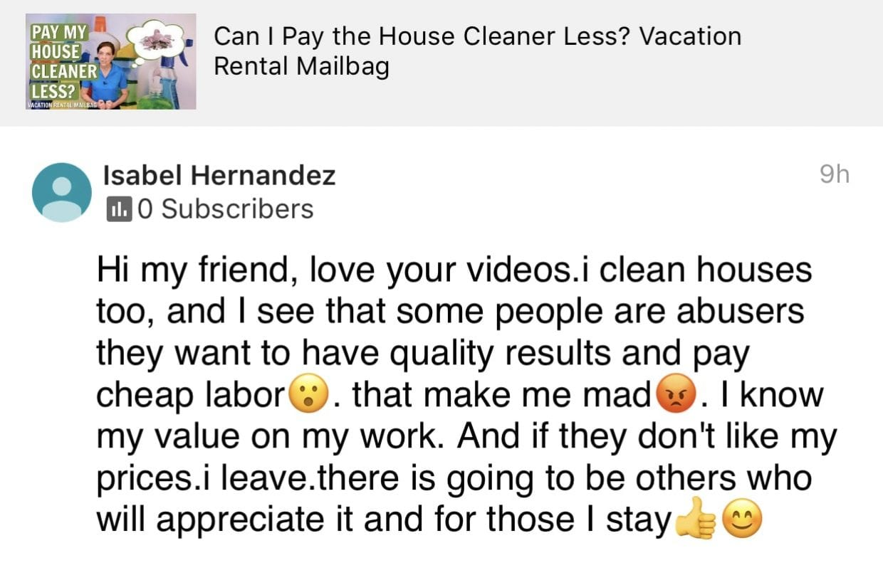Love your videos, Ask a House Cleaner Testimonial