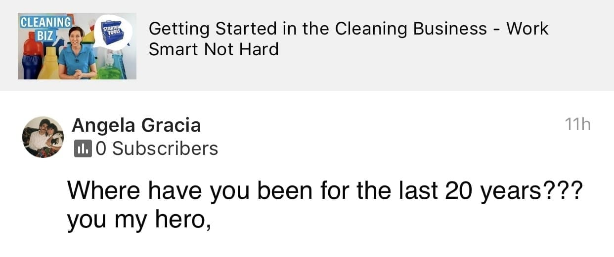 My hero, Ask a House Cleaner Testimonial