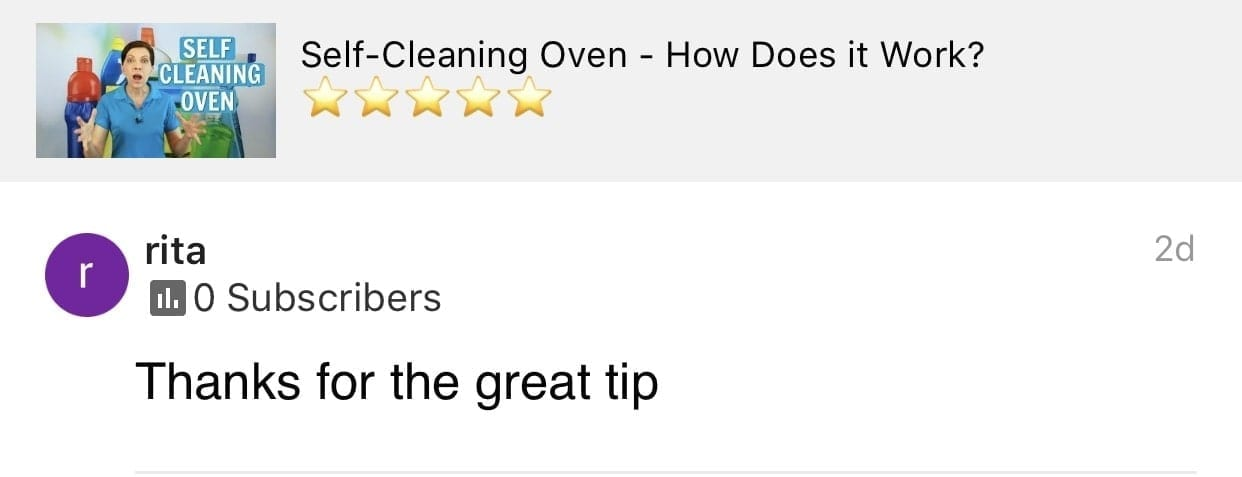 Thanks for the great tip, Ask a House Cleaner Testimonial