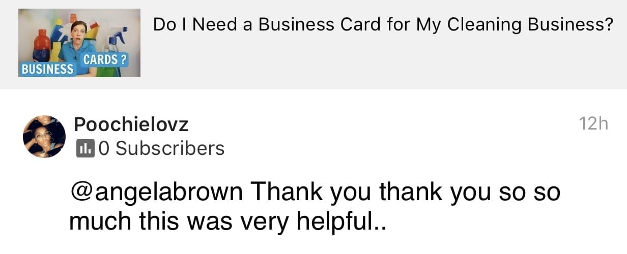 Very helpful, Ask a House Cleaner Testimonial