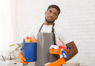 How to Ask for a Raise in House Cleaning, Bored Man Cleaning House