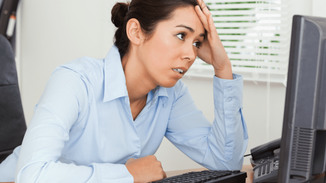 Rules and Guidelines, Frustrated Woman on Computer - Featured Image
