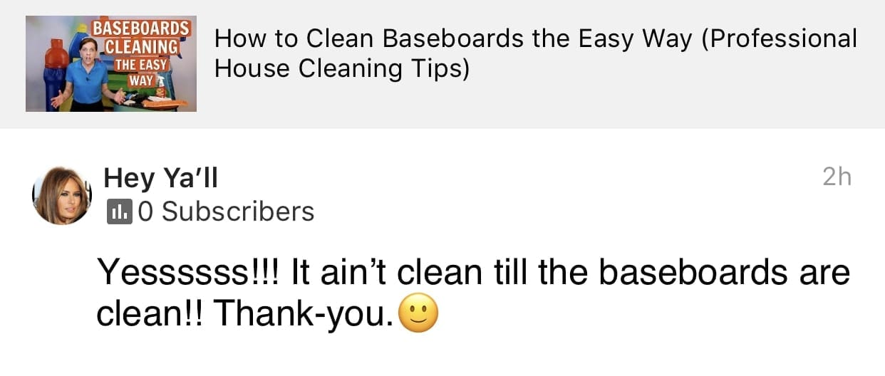 Baseboards, Ask a House Cleaner Testimonial
