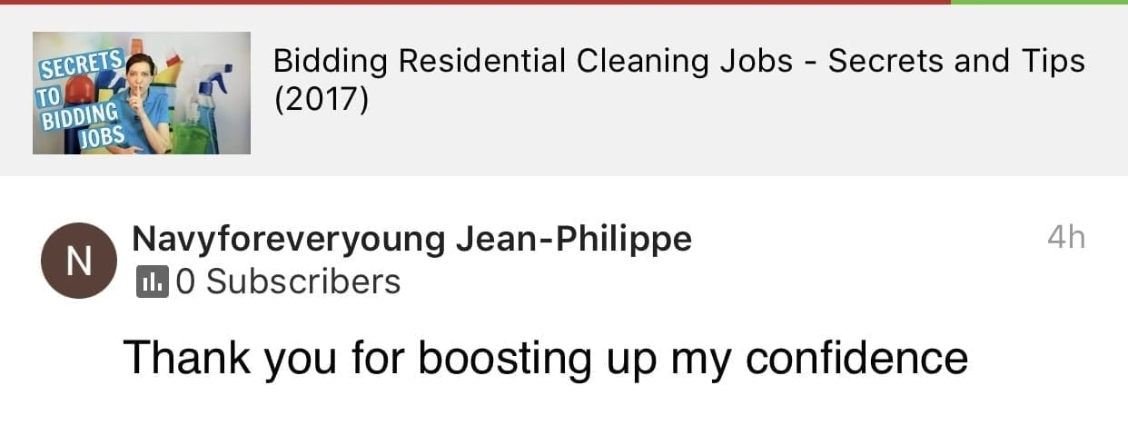 Boosting, Ask a House Cleaner Testimonial