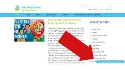 Botched Referral ask a housecleaner website