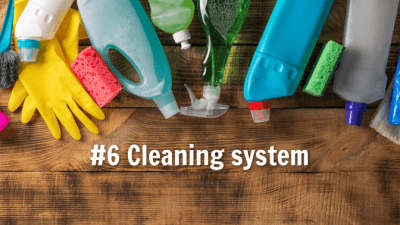Create My Own Franchise, Cleaning System