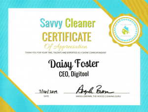 Daisy Foster, Digitool, Savvy Cleaner Correspondent