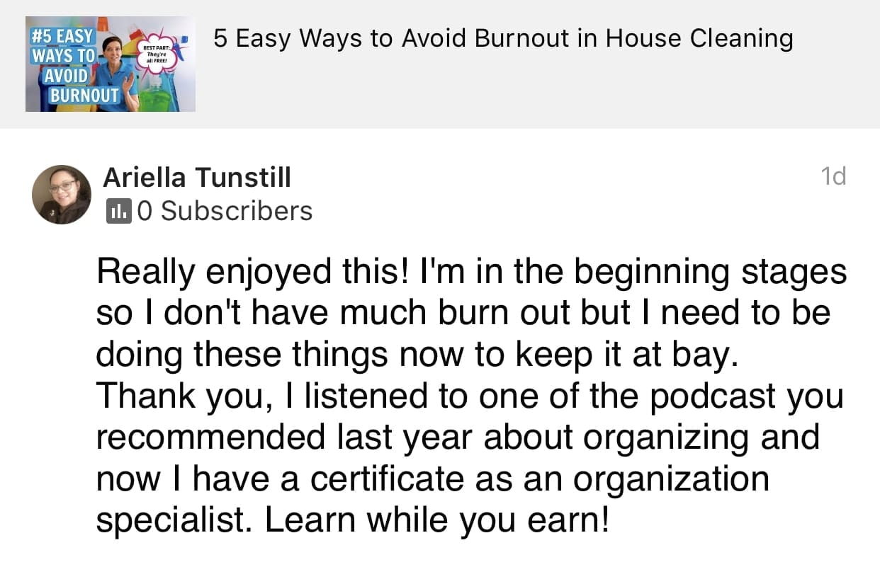 Enjoyed this, Ask a House Cleaner Testimonial