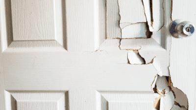Feel Unsafe While Cleaning broken door closeup