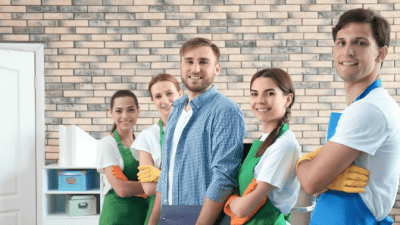 Feel Unsafe While Cleaning housecleaning team in kitchen
