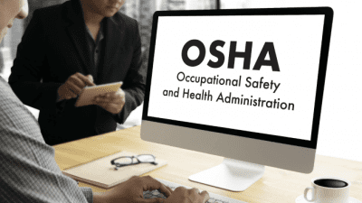 Feel Unsafe While Cleaning man working on computer osha