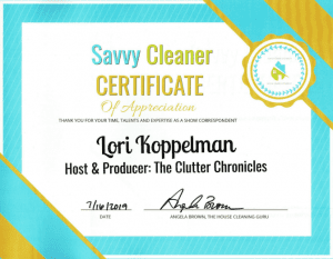 Lori Koppelman, Clutter Chronicles, Savvy Cleaner Correspondent