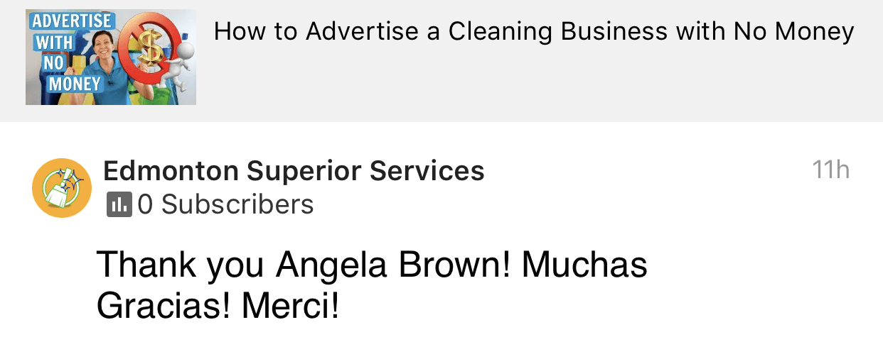 Muchas gracias, Ask a House Cleaner Testimonial