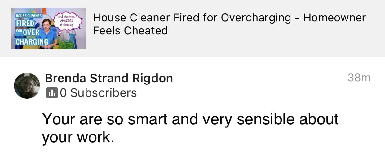 Sensible, Ask a House Cleaner Testimonial
