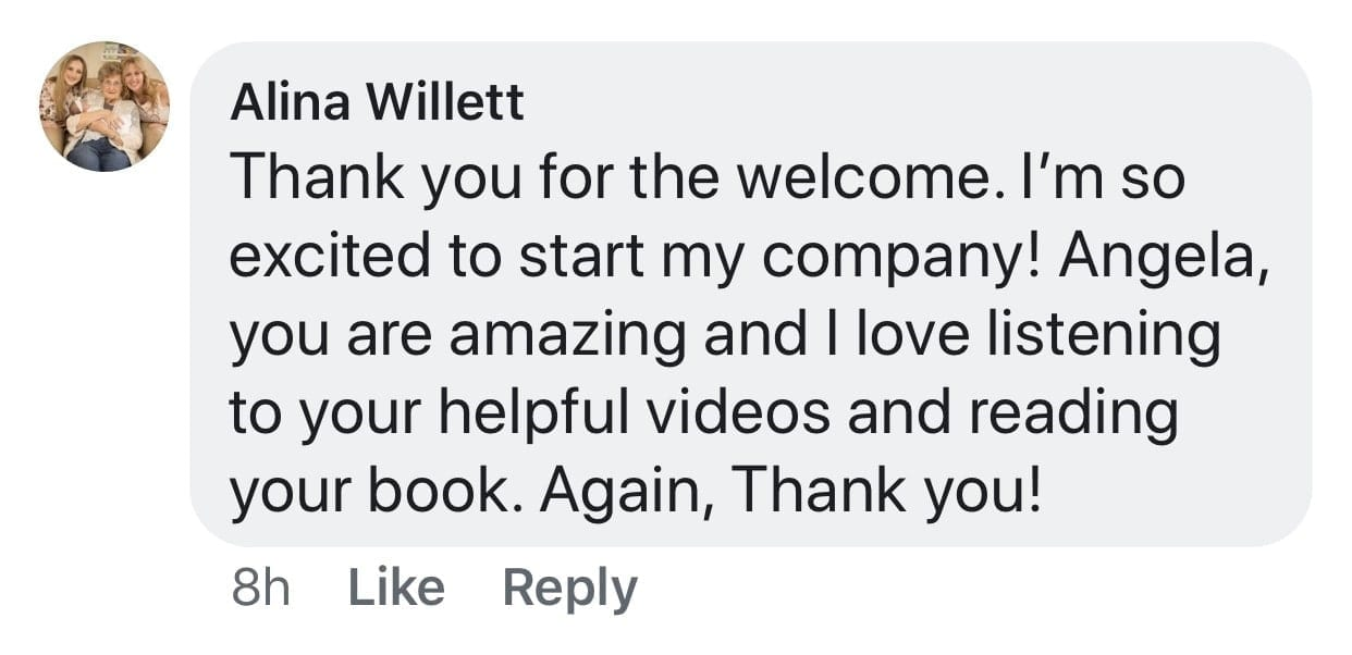 So excited, Ask a House Cleaner Testimonial