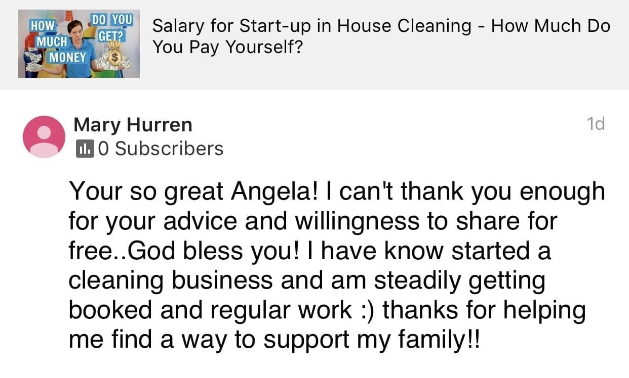 So great, Ask a House Cleaner Testimonial