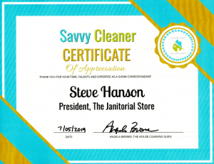 Steve Hanson, The Janitorial Store, Savvy Cleaner Correspondent