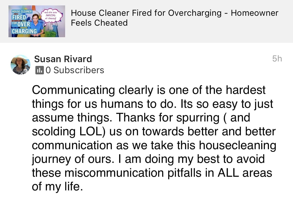 Thanks for spurring, Ask a House Cleaner Testimonial