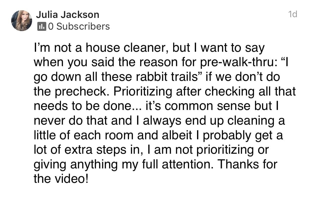 Thanks for the video!, Ask a House Cleaner Testimonial