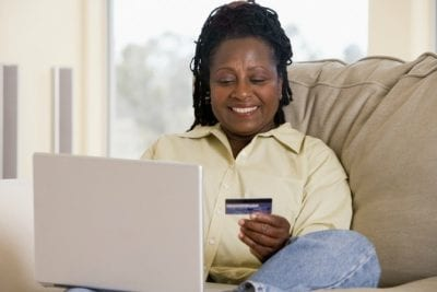 When Customers Dont Pay, Woman Using Credit Card on Computer