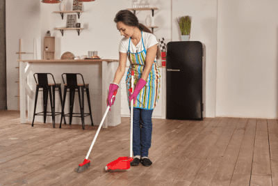 Worksheet Overkill, House Cleaning Woman Sweeping