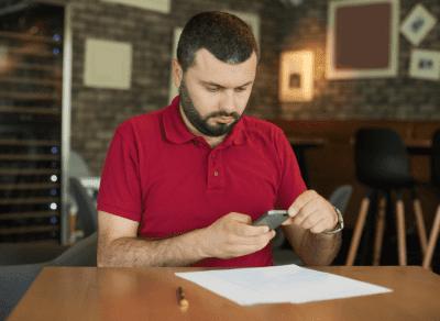 Worksheet Overkill, Man Taking Picture of Letter